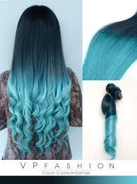 blue hair extensions black to blue dip dye human hair extensions cs027 vpfashion