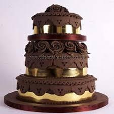 brown cake brown wedding cakes
