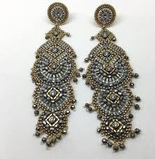 Cascading Bead Chandelier Earrings Express Miguel Ases Pyrite Drop Earrings Townhome