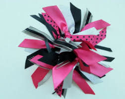 ribbon ponytail ponytail streamer etsy