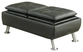 alluring black leather storage ottoman guernsey black bonded