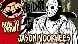 Halloween Drawings Easy How To Draw Jason Voorhees Narrated Easy Step By Step Drawing