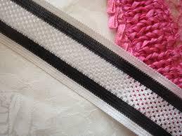 ribbon trim black and white stripe mesh elatic ribbon trim 1 1 2 w