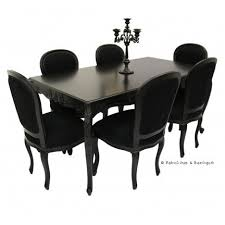French Carved Dining Table   Chairs Black Modern Baroque - Black kitchen table
