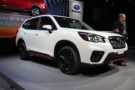subaru forester 2018 ny auto show subaru s new forester is a family friendly redesign