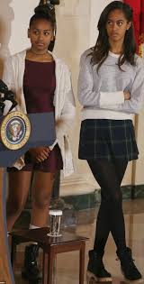 thanksgiving white house malia and sasha obama looking all grown up at the white house