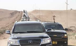 Chaldean Flag Iraqi Forces And Pmu Babylon Brigade Arriving To Chaldean Town Of