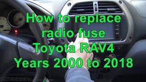 youtube rav4 fuse box where is the main fuse in toyota rav4