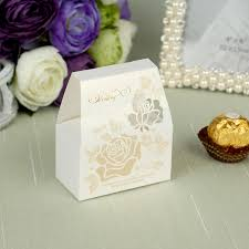 beige color hollow flower pattern bride u0026groom wedding favor boxes
