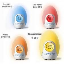 thermometre de chambre bébé thermomètre numérique de chambre grobag egg de grobag