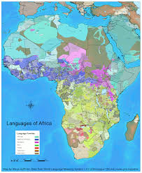 Africa Colonial Map by Africa Seen Through Dialects Not Colonial Borders Playing In
