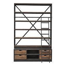 Bookcase With Ladder Loft Library W Ladder Bookcases Office
