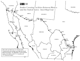map us mexico border states map 5 4 border crossing facilities between mexico and the united