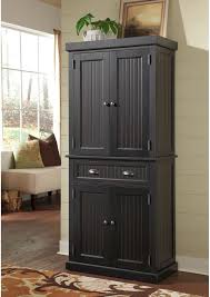 Distressed Black Kitchen Cabinets by Details About Black Distressed Finish Pantry Pantry Framed