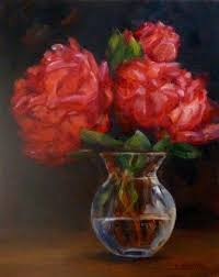 Glass Vase Painting Daily Painting Projects Peonies In Bud Vase Still Life Painting