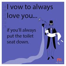 Toilet Seat Down Meme - i vow to always love you if you ll always put the toilet seat