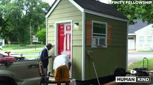homeless man jumps for joy over new tiny house youtube