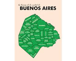 Buenos Aires Map Buenos Aires Neighborhood Map
