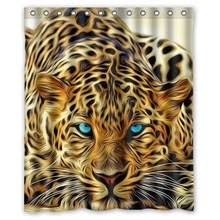 buy leopard print shower curtains and get free shipping on