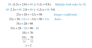 clearing decimals and fractions