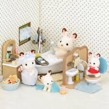 sylvanian families country bathroom set 24 00 hamleys for