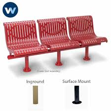 Commercial Outdoor Bench Commercial Outdoor Park Bench With Back 3 Seat Straight Plastisol