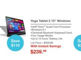 black friday deals for tablets lenovo black friday 2015 ad features yoga windows tablet thinkpad