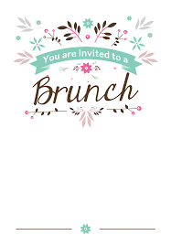 lunch invitation cards flat floral free printable brunch invitation template