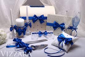 navy blue wedding set server and knife cake serving от vizzara