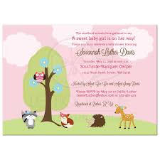 woodland baby shower invitations girl forest animals baby shower invitation