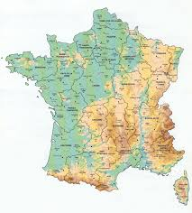 Map Of South France by Geological Map Of France Showing Mountain Ranges Rivers Etc