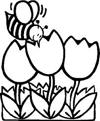 honey bees in the garden coloring pages for kids gd printable