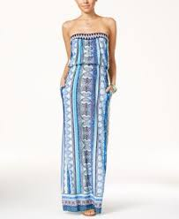 material juniors u0027 printed lace up maxi dress only at macy u0027s