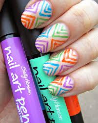 concrete and nail polish fun nail art with sally hansen nail art