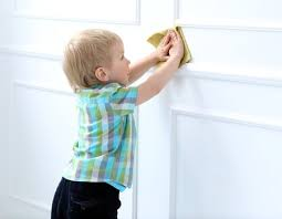 clean wall cleaning walls safely