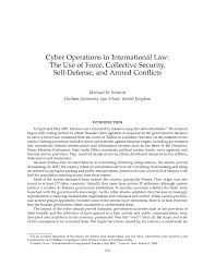 Letter Of Intent Legal Effect by Cyber Operations In International Law The Use Of Force