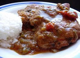 creole pork chop piquante drick u0027s rambling cafe