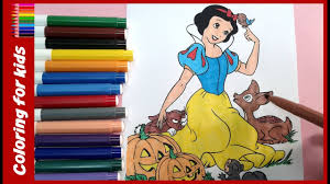halloween coloring pages how to color disney halloween snow