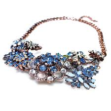 multi crystal necklace images Anastasia crystal mulfi flower icy blue stone rose gold chain jpg