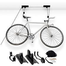 Bicycle Ceiling Hoist by Bike Pulley System Bicycle Stands U0026 Storage Ebay