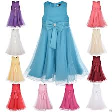 girls party dress flower wedding bridesmaid age 2 3 4 5 6 7 8