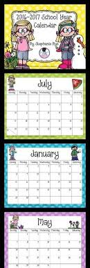 printable calendar 2016 for teachers great to keep in your teacher notebook on your desk or to hang in