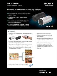 download free pdf for sony snc ch110 security camera manual