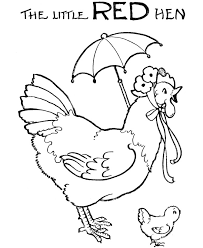 little red hen colouring pages free 1920s the little red hen