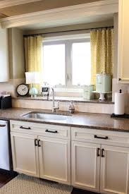 single sink on nice countertop pattern and arched faucet near
