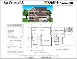 brunswick stock house plan two story four bedroom 2 5 baths