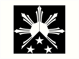 tribal philippines sun and flag prints by