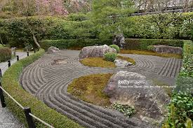 dark rock garden of taizoin temple kyoto stock photo getty images