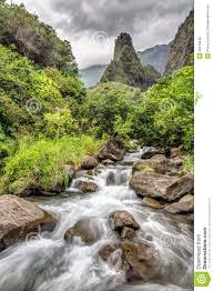 Iao Valley State Park Map by Iao Valley Maui Stock Photo Image 49278446