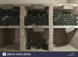 Wine Cellar Basement Bottles In The Wine Cellar In The Basement At Belton House Stock